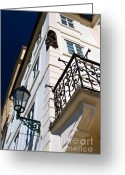 Historic Street Greeting Cards - Street scene of Prague Greeting Card by Hideaki Sakurai
