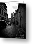 Historic Street Greeting Cards - Street scenery in the Little Quarter area Greeting Card by Hideaki Sakurai