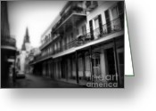 St. Charles Greeting Cards - Street to Jackson Square Greeting Card by Perry Webster