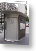 Urinal Greeting Cards - Street Toilet In Paris Greeting Card by Mark Williamson