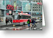Metropolitan Greeting Cards - Streetcar on Dundas Greeting Card by Kenneth M  Kirsch