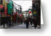 Colorful Pastels Greeting Cards - Streetlife Greeting Card by Stefan Kuhn