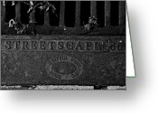 Drain Greeting Cards - Streetscape 36 Greeting Card by Jason Blalock