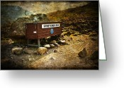 Rural Decay  Digital Art Greeting Cards - Stretcher Box Greeting Card by Svetlana Sewell