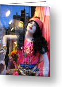 Store Fronts Greeting Cards - Strike a Pose Greeting Card by Colleen Kammerer