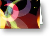 Colors Greeting Cards - String of Lights 1 Greeting Card by Mike McGlothlen