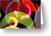Abstract Fine Art Greeting Cards - String of Lights 2 Greeting Card by Mike McGlothlen
