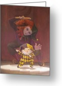 Puppet Greeting Cards - Strings Attached Greeting Card by Leonard Filgate