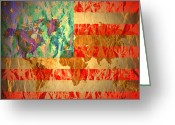 Edmonton Greeting Cards Posters Greeting Cards - Stripes And Stars  Greeting Card by Jerry Cordeiro