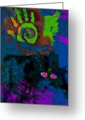 Amulet Greeting Cards - Strong Gris Gris Greeting Card by David Clanton