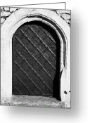 Old Krakow Greeting Cards - Strong Metal Covered And Braced Fortified Door For Strength In Wawel Castle Krakow Greeting Card by Joe Fox