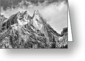 Rocky Mountain Prints Greeting Cards - Structure Greeting Card by Ian Woods