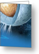 Spout Photo Greeting Cards - Structure Of Enceladus, Artwork Greeting Card by Claus Lunau