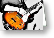 Jerry Cordeiro Greeting Cards Posters Greeting Cards - Strummin Dan Greeting Card by Jerry Cordeiro