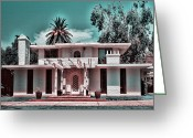 Vintage House Greeting Cards - Stucco Palm Manor Greeting Card by Marcie Adams Eastmans Studio Photography