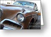 Cars Greeting Cards - Studebaker Golden Hawk . 7D14181 Greeting Card by Wingsdomain Art and Photography