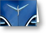 Professional Greeting Cards - Studebaker Hood Emblem Greeting Card by Jill Reger
