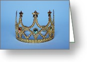 Tiara Greeting Cards - Studio Shot Of Gold Tiara Greeting Card by Winslow Productions