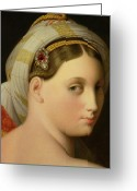Shoulder Painting Greeting Cards - Study for an Odalisque Greeting Card by Ingres