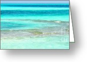 Light Aqua Greeting Cards - Study in Blue Greeting Card by Corinne Rhode