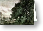 Trees Oil Greeting Cards - Study of Trees Greeting Card by John Constable
