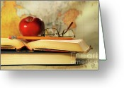Pencil Greeting Cards - Study time Greeting Card by Sandra Cunningham