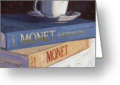 Trumpet Glass Greeting Cards - Studying Monet Greeting Card by Christopher Mize