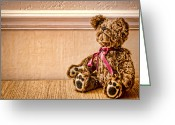 Kid Photo Greeting Cards - Stuffed Friend Greeting Card by Heather Applegate