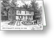 Amputee Greeting Cards - STUYVESANT HOUSE, c1670 Greeting Card by Granger
