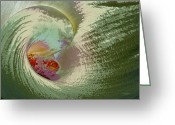 Seashell Art Greeting Cards - Stylized Calla Lily Greeting Card by Phyllis Denton