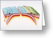 Nazca Greeting Cards - Subduction Greeting Card by Gary Hincks