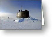 Submarines Greeting Cards - Submarine Uss Connecticut Surfaces Greeting Card by Stocktrek Images