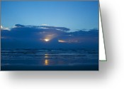 Storm Prints Greeting Cards - Subtropical Storm Beryl Sunrise Greeting Card by Wild Expressions Photography