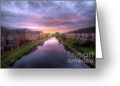 Sunset Framed Prints Greeting Cards - Suburban Sunrise 1.0 Greeting Card by Yhun Suarez