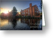 Sunset Framed Prints Greeting Cards - Suburban Sunrise 3.0 Greeting Card by Yhun Suarez