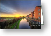 Sunset Framed Prints Greeting Cards - Suburban Sunrise 8.0 Greeting Card by Yhun Suarez