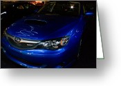 Lightpaint Greeting Cards - Suburu WRX Greeting Card by Bryan  Howland Photography