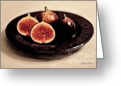 Figs Greeting Cards - Succulence Greeting Card by Barbara McMahon
