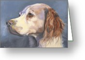 Spaniel Print Greeting Cards - Such a Spaniel Greeting Card by Susan A Becker