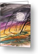 Fine Art Watercolor Drawings Greeting Cards - Such a Wind Greeting Card by John  Williams