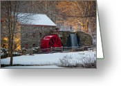Wayside Greeting Cards - Sudbury Gristmill Greeting Card by Susan Cole Kelly