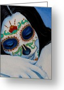 Face Greeting Cards - Suenos Pacificos Greeting Card by Al  Molina