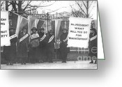 Elections Greeting Cards - Suffragettes Picket the White House Greeting Card by Padre Art
