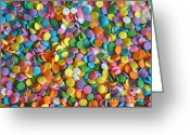 Children Ice Cream Greeting Cards - Sugar Confetti Greeting Card by Methune Hively
