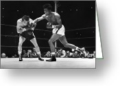Fighting Greeting Cards - Sugar Ray Robinson Greeting Card by Granger