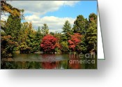 Indiana Autumn Greeting Cards - Sugar Ridge State Fish and Wildlife Area Greeting Card by Jack R Brock