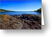 Pebbles Greeting Cards - Sugarloaf Cove From Rock Level Greeting Card by Bill Tiepelman
