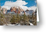 Butte Creek Greeting Cards - Sugarloaf Greeting Card by Jim Chamberlain