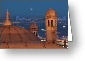 Turkey Greeting Cards - Suleymaniye Greeting Card by Salvator Barki