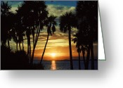 Janie Greeting Cards - Sultry Sunset Greeting Card by Janie Johnson